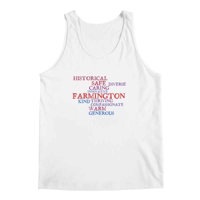 Farmington Word Cloud Men's Tank by farmingtonvoice's Artist Shop