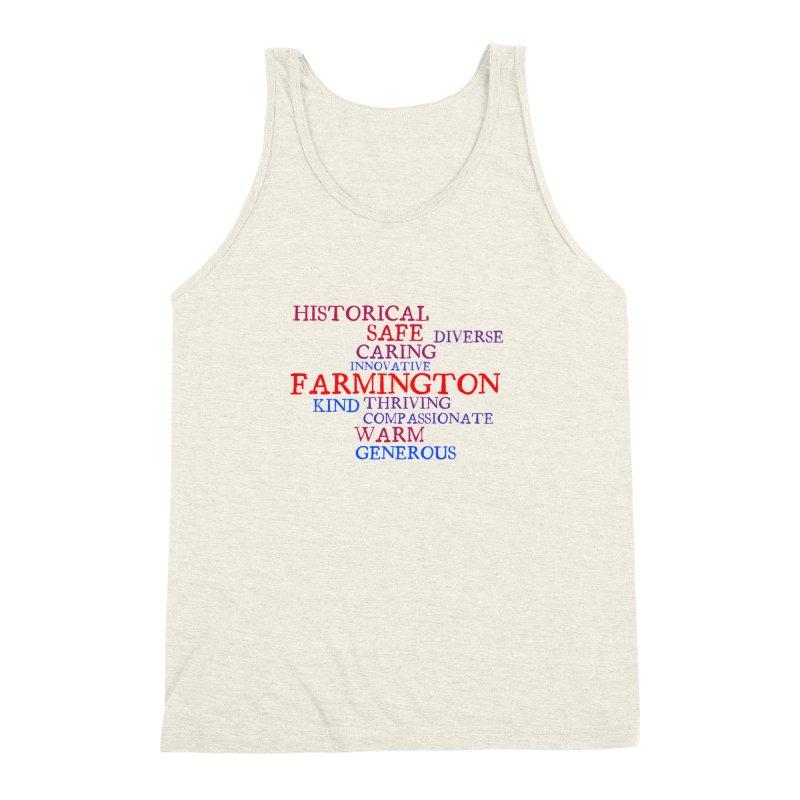Farmington Word Cloud Men's Triblend Tank by farmingtonvoice's Artist Shop