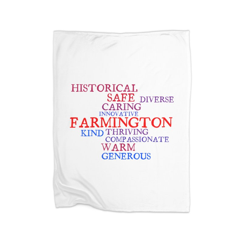 Farmington Word Cloud Home Blanket by farmingtonvoice's Artist Shop