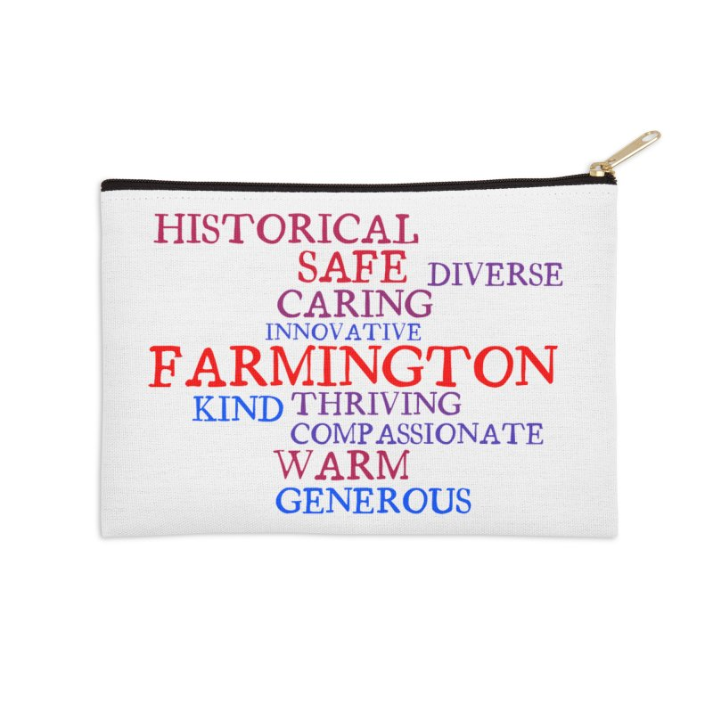 Farmington Word Cloud Accessories Zip Pouch by farmingtonvoice's Artist Shop