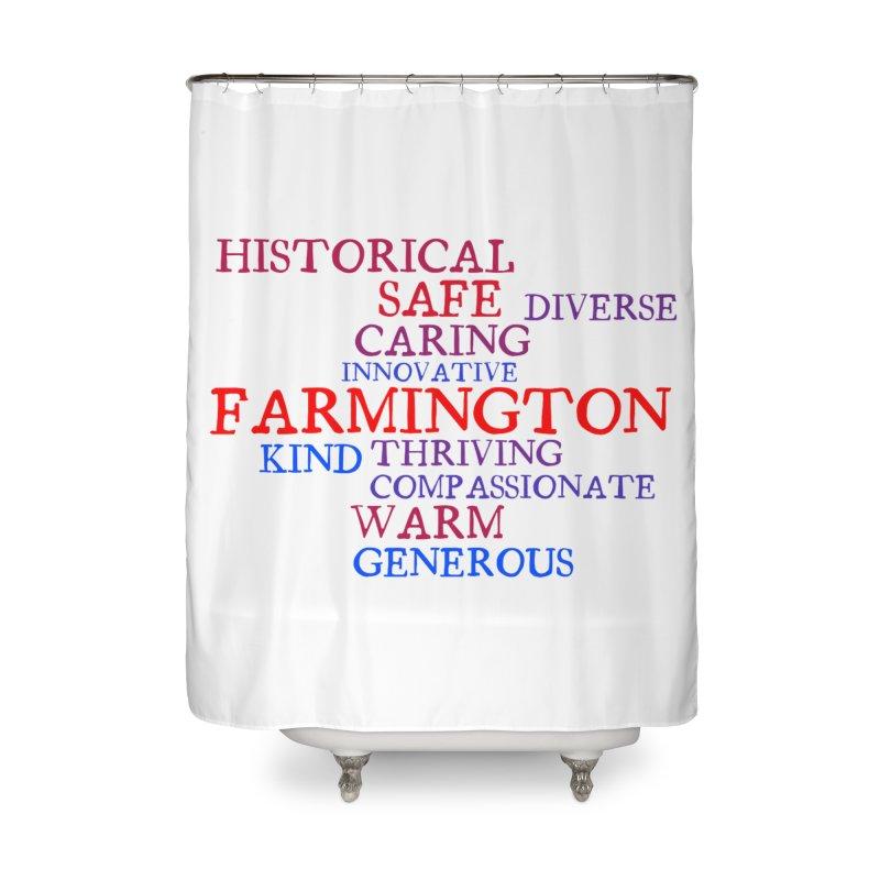 Farmington Word Cloud Home Shower Curtain by farmingtonvoice's Artist Shop