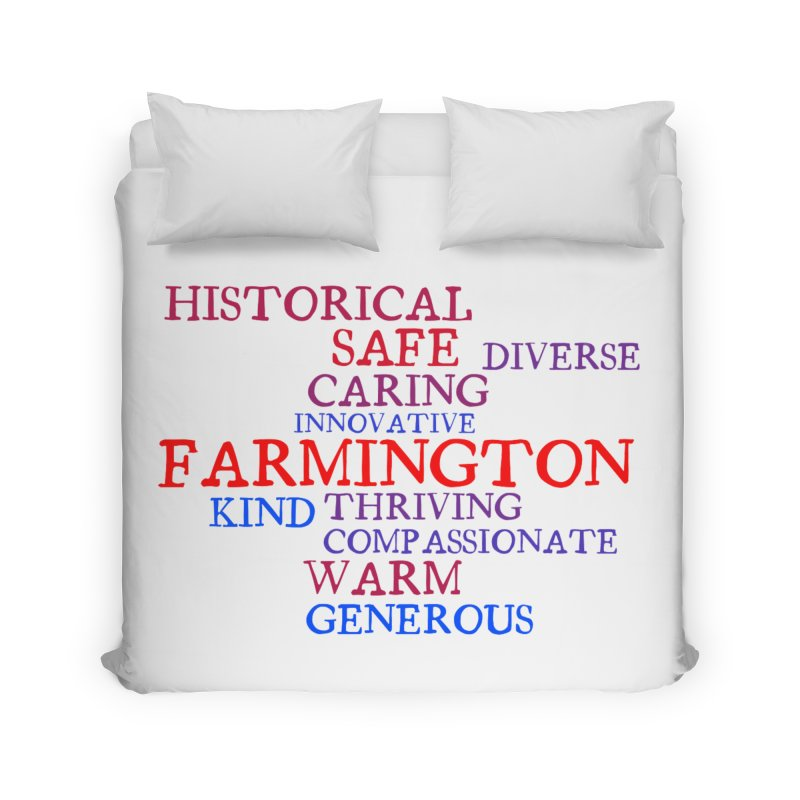 Farmington Word Cloud Home Duvet by farmingtonvoice's Artist Shop