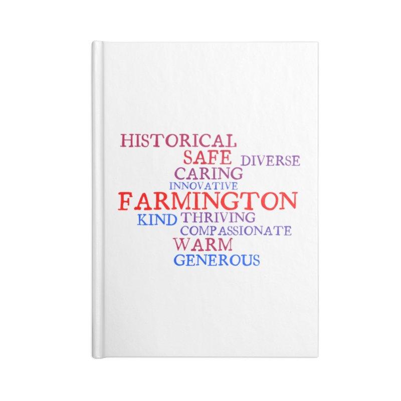 Farmington Word Cloud Accessories Notebook by farmingtonvoice's Artist Shop