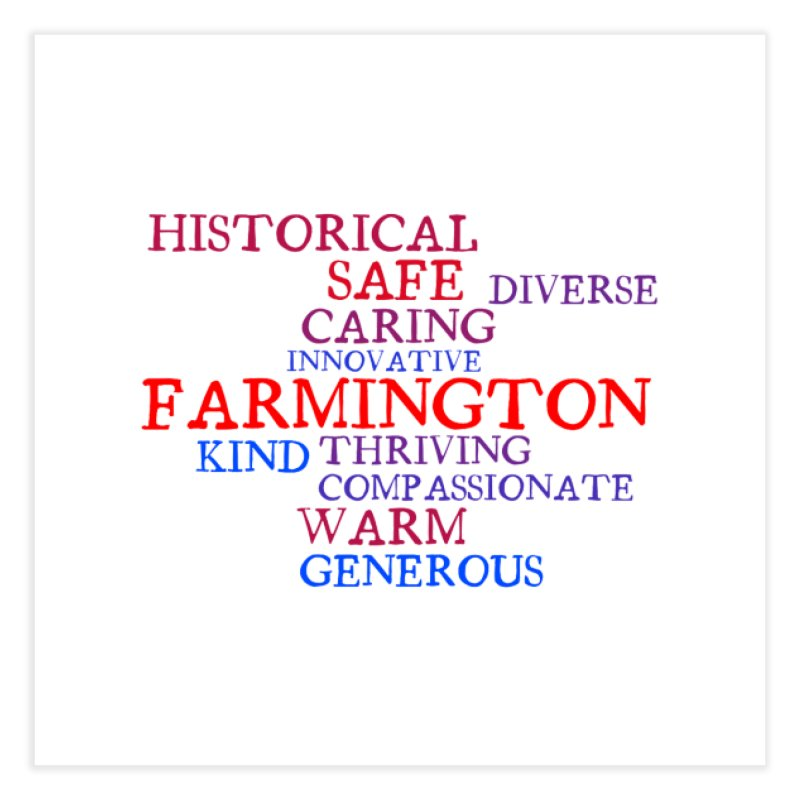 Farmington Word Cloud Home Fine Art Print by farmingtonvoice's Artist Shop