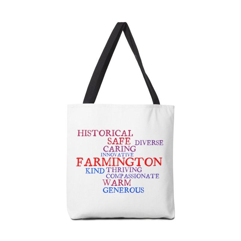 Farmington Word Cloud Accessories Bag by farmingtonvoice's Artist Shop