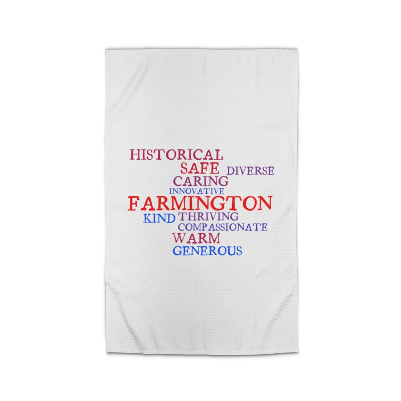 Farmington Word Cloud Home Rug by farmingtonvoice's Artist Shop