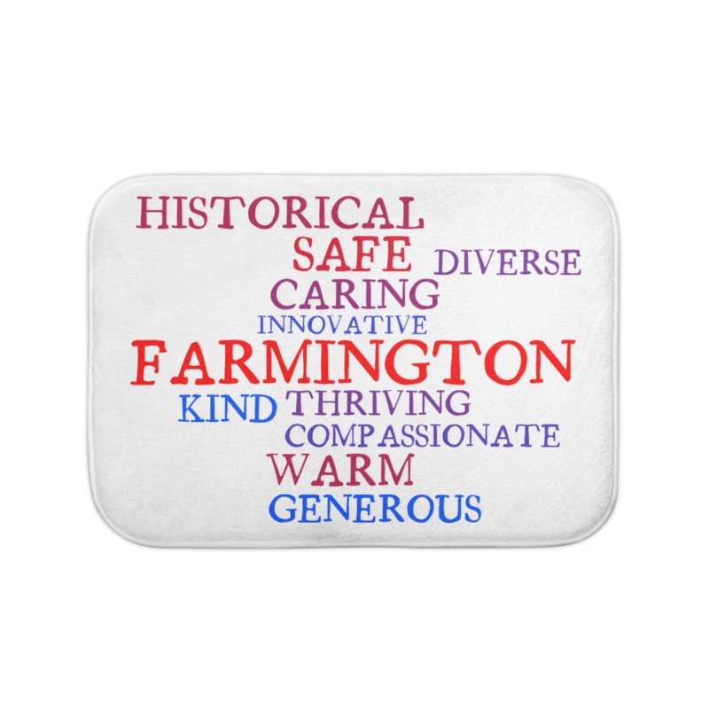 Farmington Word Cloud Home Bath Mat by farmingtonvoice's Artist Shop