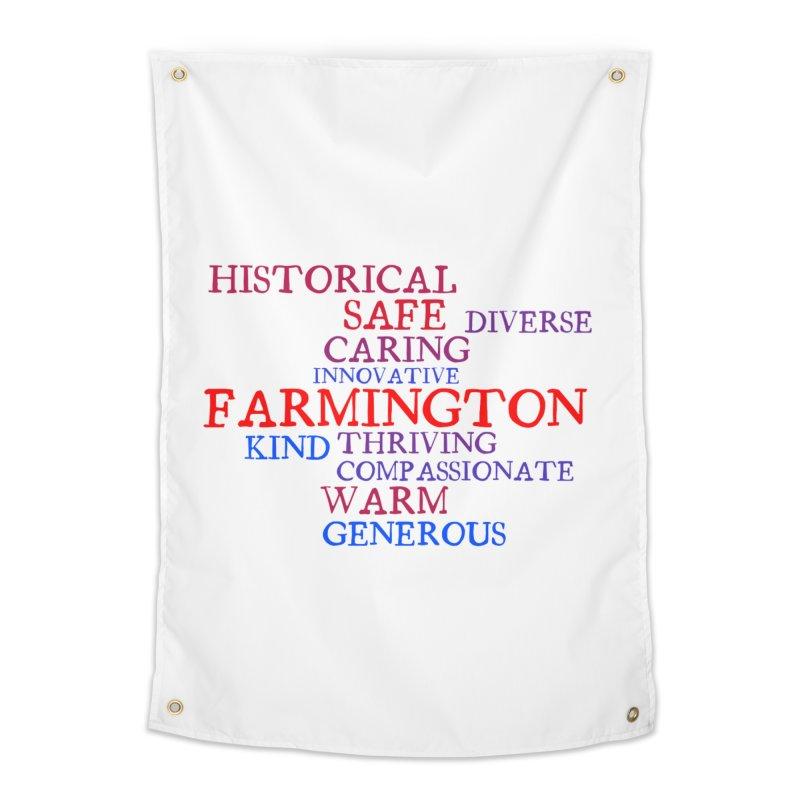 Farmington Word Cloud Home Tapestry by farmingtonvoice's Artist Shop