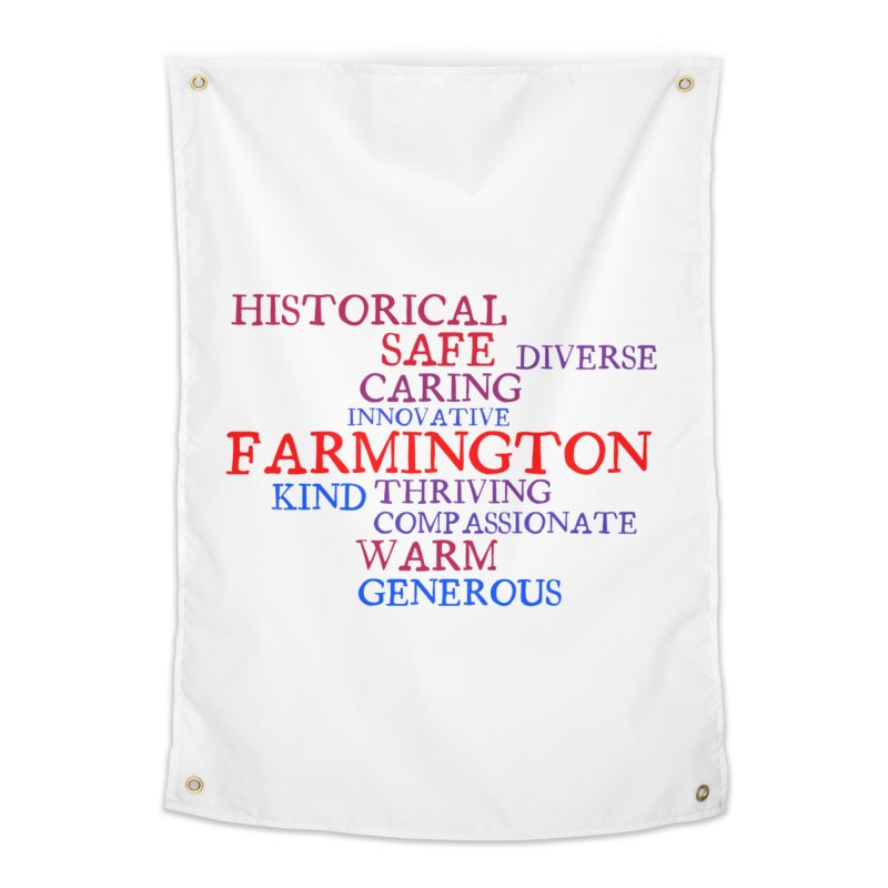 Farmington Word Cloud Home Tapestry by farmingtonvoice's Artist Shop