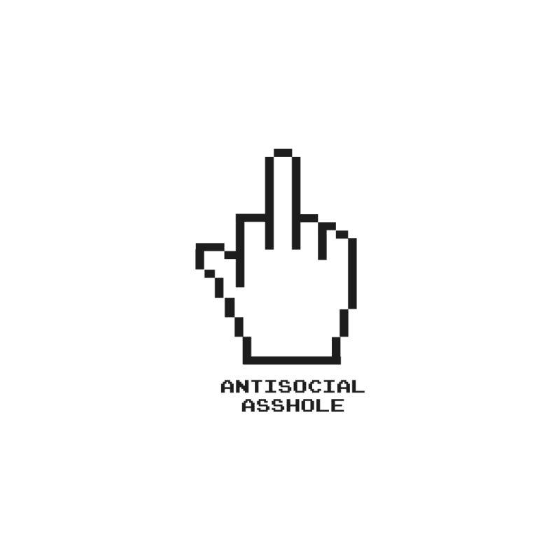 AntiSocial Asshole Men's T-Shirt by farnell's Artist Shop