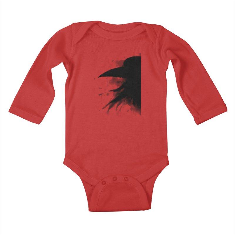 Nevermore Kids Baby Longsleeve Bodysuit by farorenightclaw's Shop