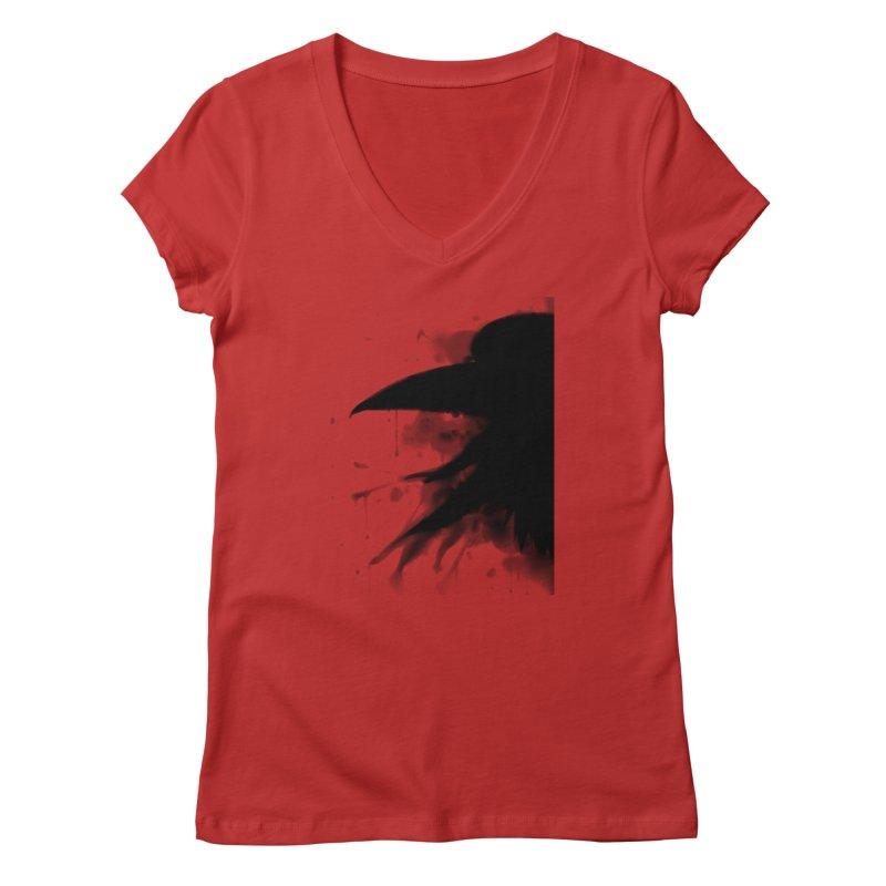 Nevermore Women's V-Neck by farorenightclaw's Shop