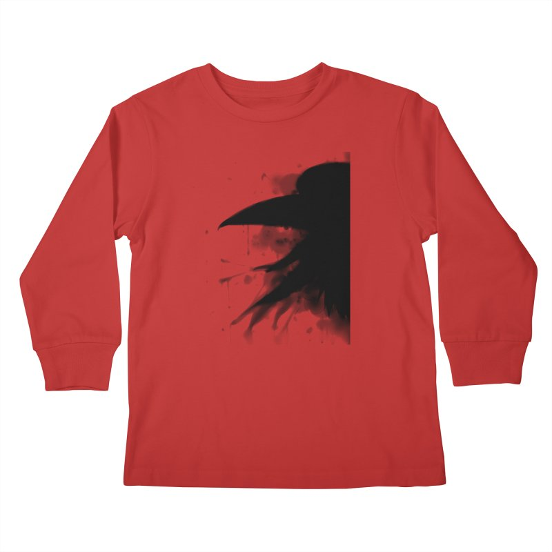 Nevermore Kids Longsleeve T-Shirt by farorenightclaw's Shop
