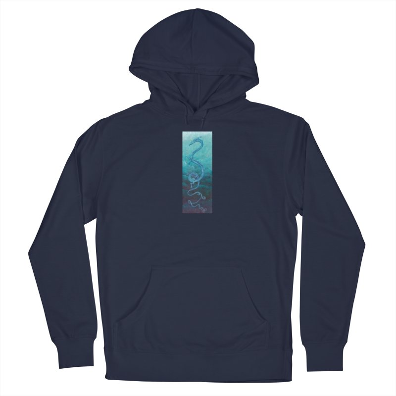 Pthalo Dragon Men's French Terry Pullover Hoody by farorenightclaw's Shop