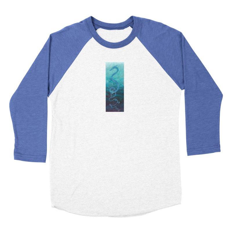 Pthalo Dragon Men's Baseball Triblend Longsleeve T-Shirt by farorenightclaw's Shop