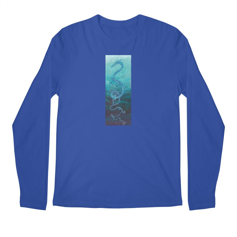 Pthalo Dragon Men's Longsleeve T-Shirt by farorenightclaw's Shop