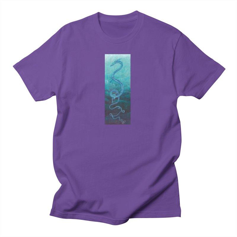 Pthalo Dragon Men's T-Shirt by farorenightclaw's Shop