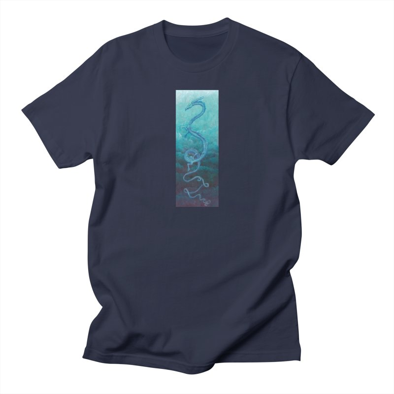 Pthalo Dragon Men's T-Shirt by farorenightclaw's Shop