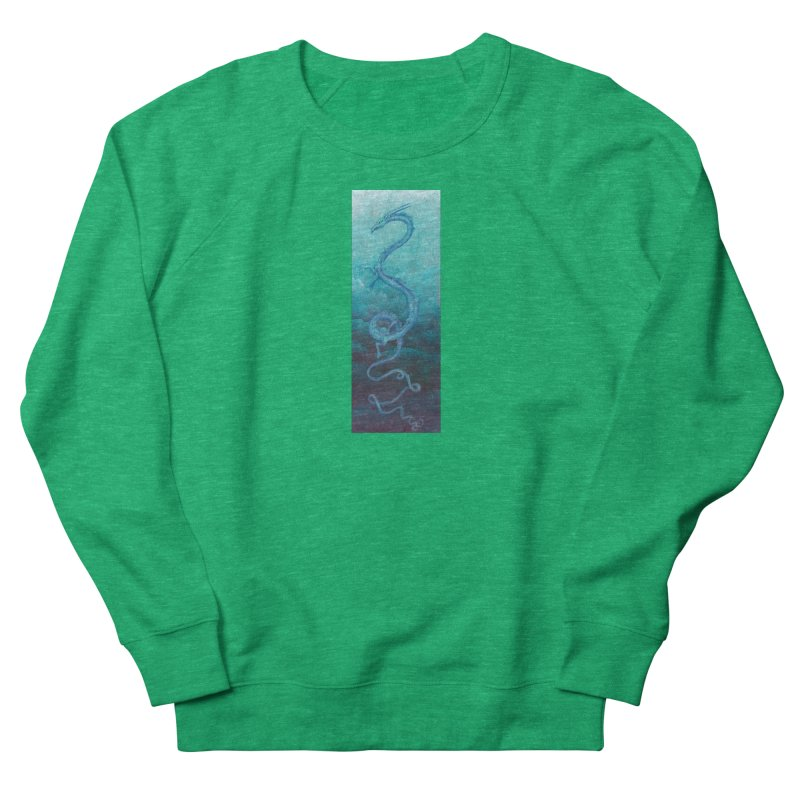 Pthalo Dragon Men's French Terry Sweatshirt by farorenightclaw's Shop