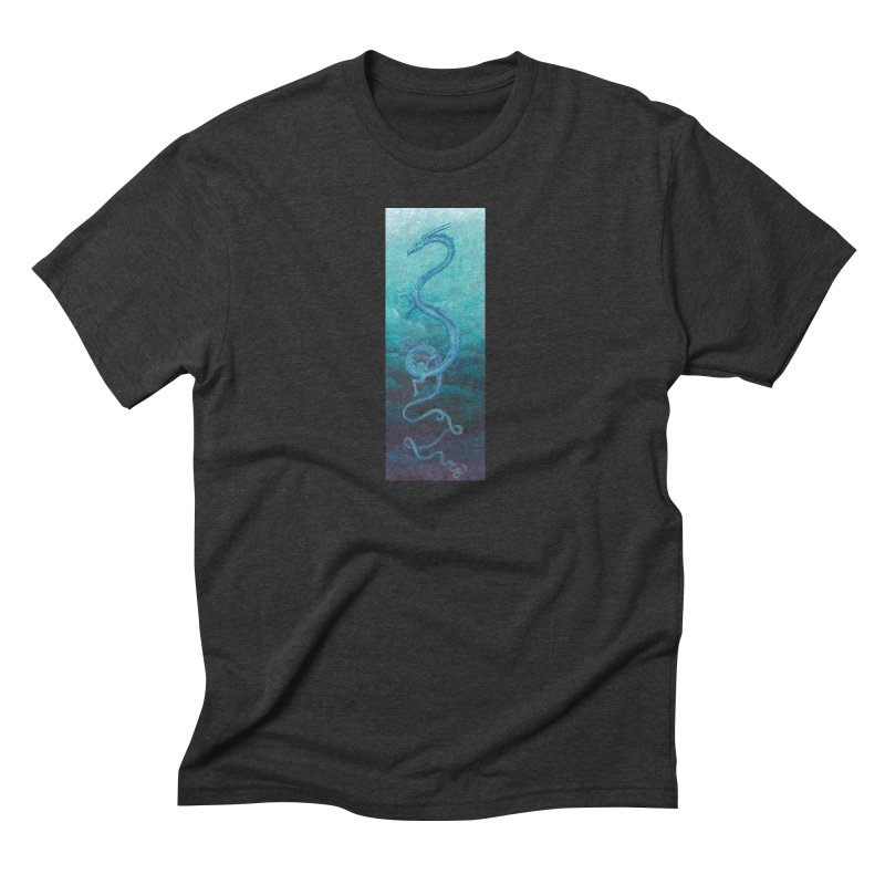 Pthalo Dragon Men's Triblend T-Shirt by farorenightclaw's Shop