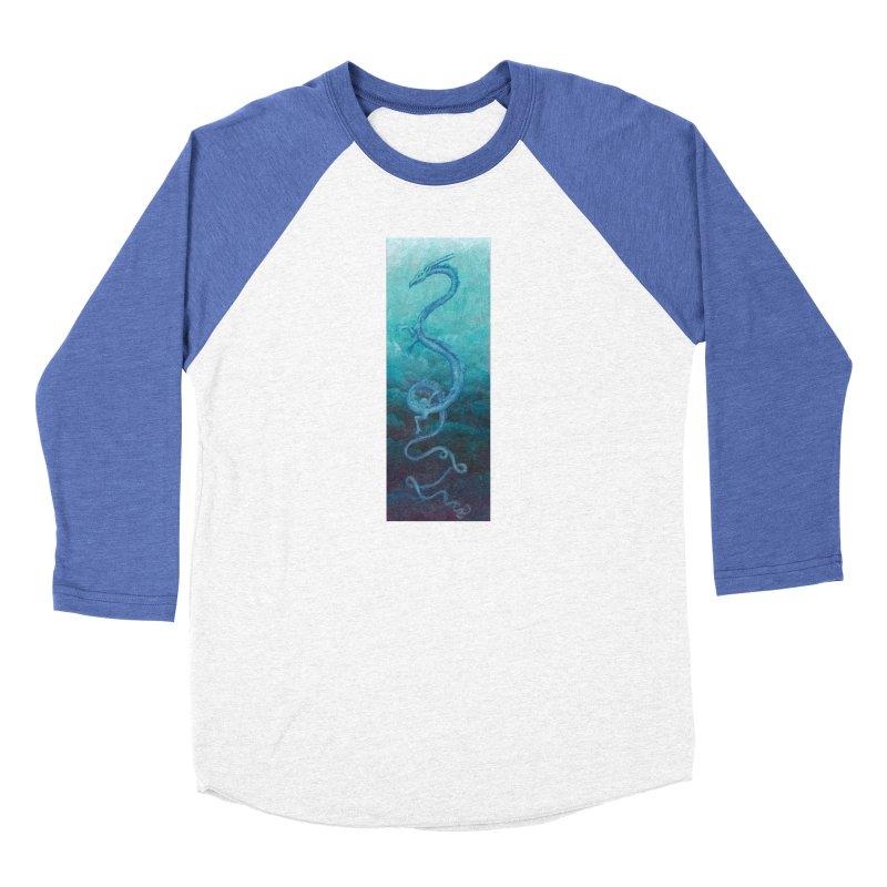 Pthalo Dragon Women's Baseball Triblend Longsleeve T-Shirt by farorenightclaw's Shop