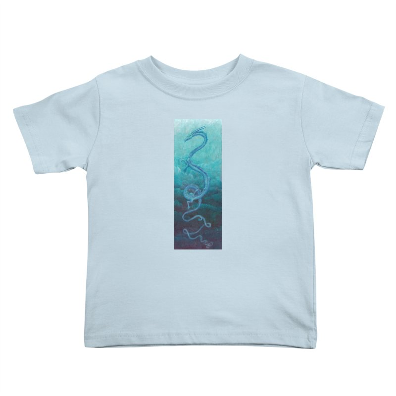 Pthalo Dragon Kids Toddler T-Shirt by farorenightclaw's Shop