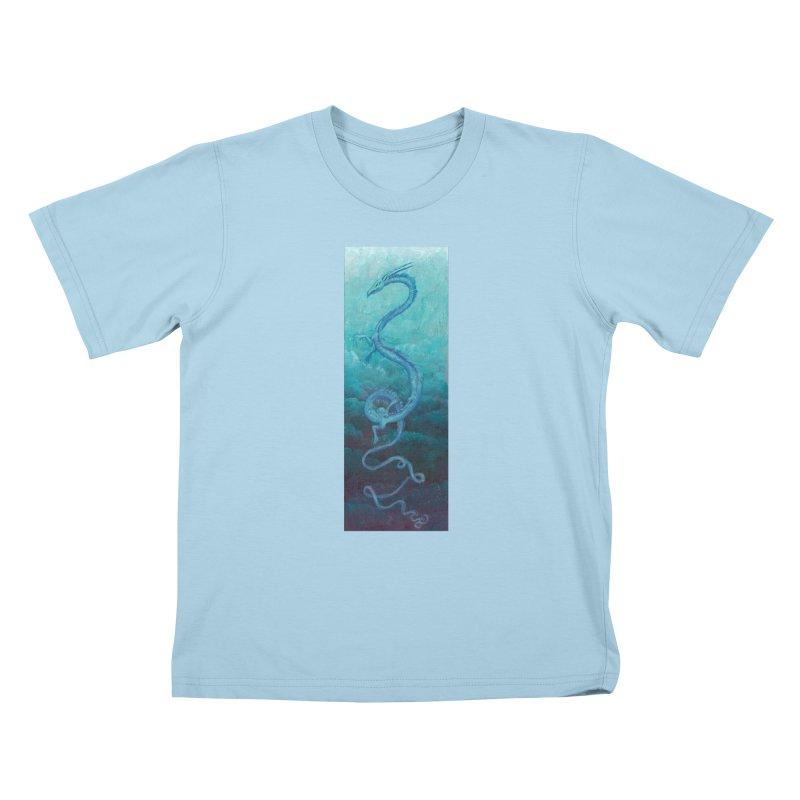 Pthalo Dragon Kids T-Shirt by farorenightclaw's Shop