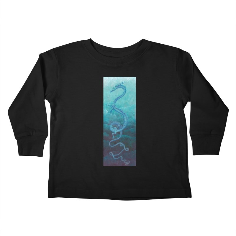 Pthalo Dragon Kids Toddler Longsleeve T-Shirt by farorenightclaw's Shop