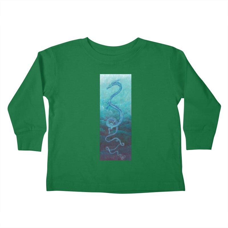 Pthalo Dragon Kids Toddler Longsleeve T-Shirt by farorenightclaw's Shop