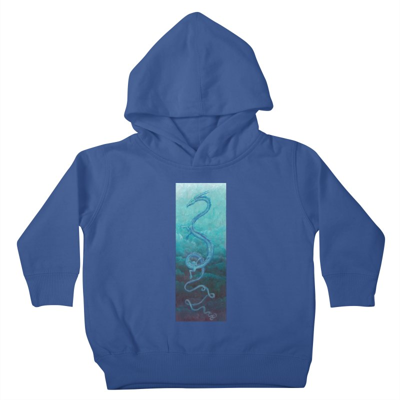 Pthalo Dragon Kids Toddler Pullover Hoody by farorenightclaw's Shop