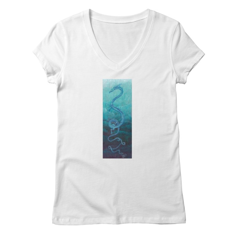 Pthalo Dragon Women's V-Neck by farorenightclaw's Shop
