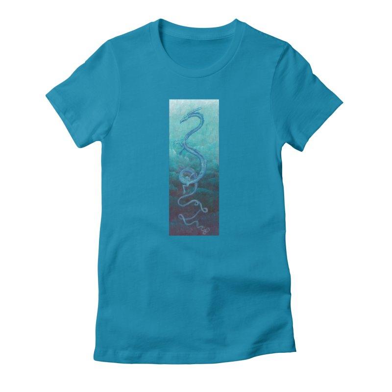 Pthalo Dragon Women's T-Shirt by farorenightclaw's Shop