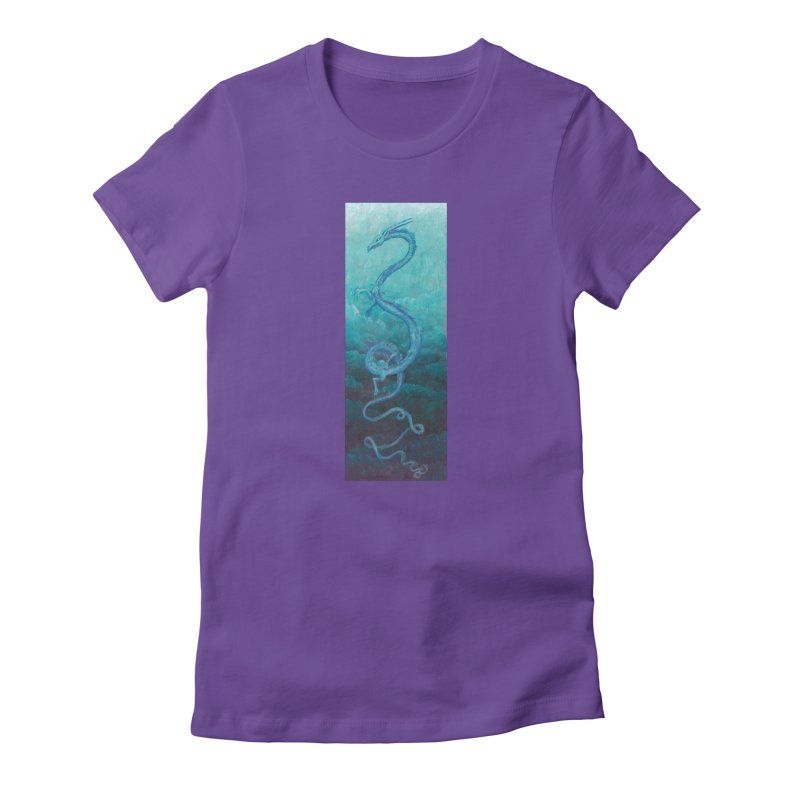 Pthalo Dragon Women's T-Shirt by farorenightclaw's Shop