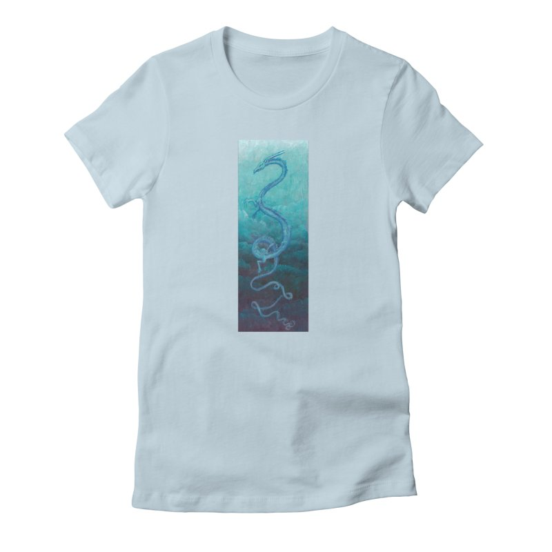 Pthalo Dragon Women's Fitted T-Shirt by farorenightclaw's Shop