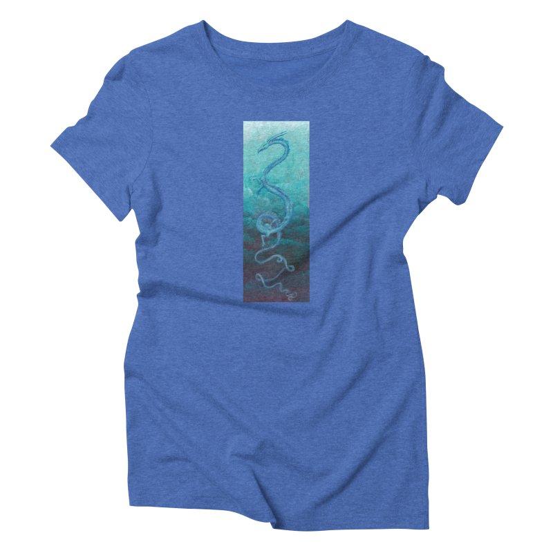 Pthalo Dragon Women's Triblend T-Shirt by farorenightclaw's Shop