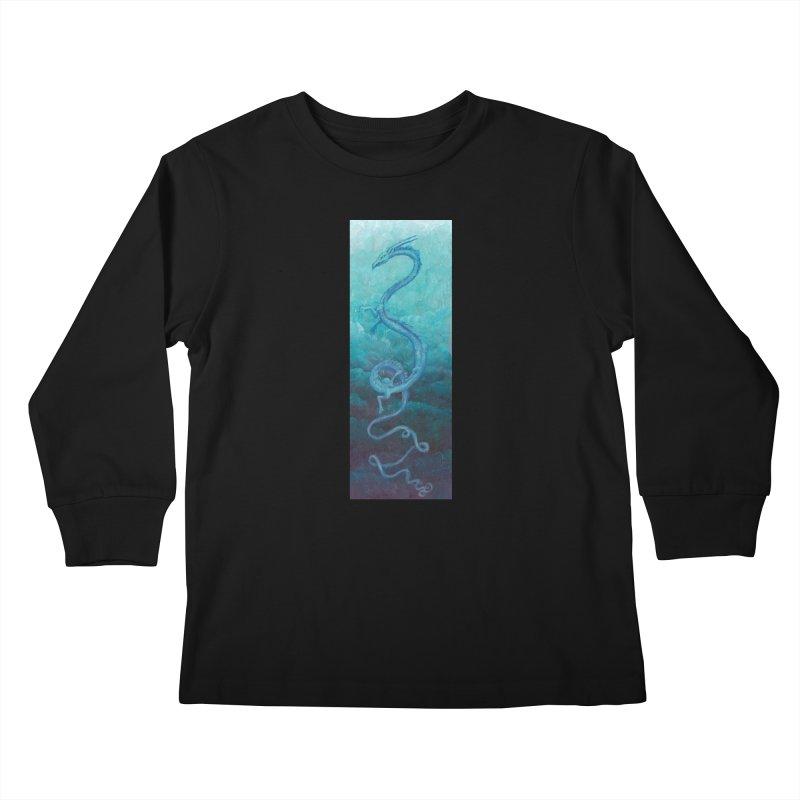 Pthalo Dragon Kids Longsleeve T-Shirt by farorenightclaw's Shop