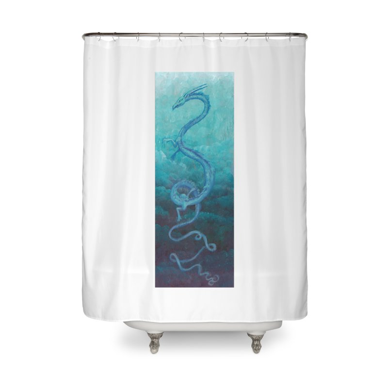 Pthalo Dragon Home Shower Curtain by farorenightclaw's Shop