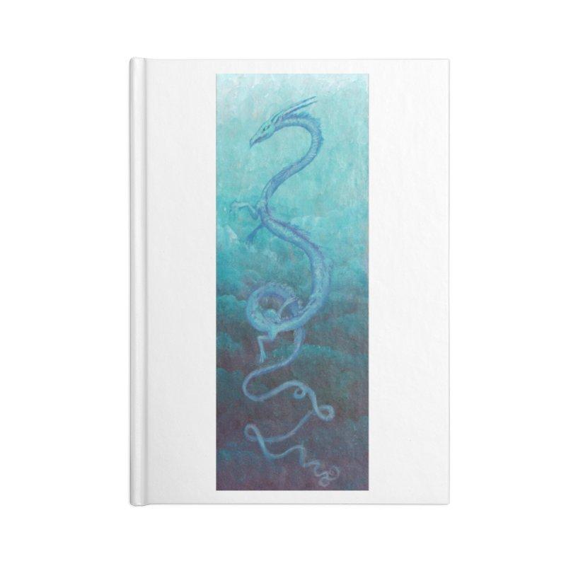 Pthalo Dragon Accessories Blank Journal Notebook by farorenightclaw's Shop