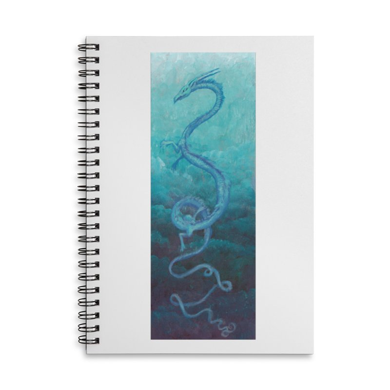 Pthalo Dragon Accessories Lined Spiral Notebook by farorenightclaw's Shop