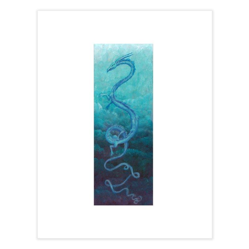Pthalo Dragon Home Fine Art Print by farorenightclaw's Shop