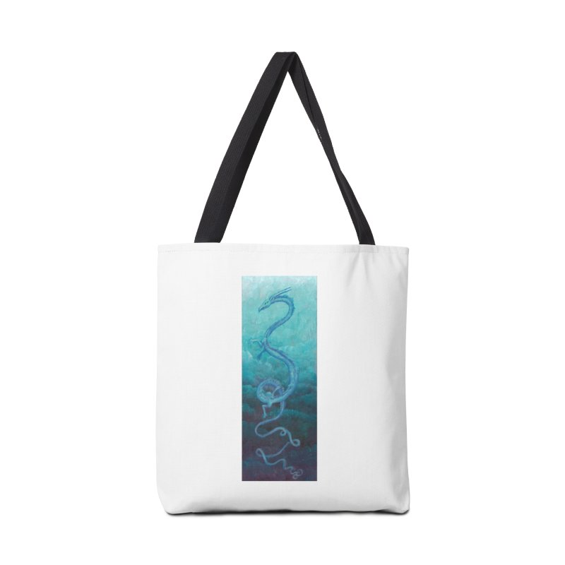 Pthalo Dragon Accessories Tote Bag Bag by farorenightclaw's Shop