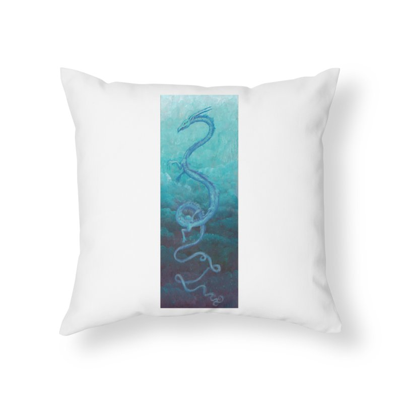 Pthalo Dragon Home Throw Pillow by farorenightclaw's Shop