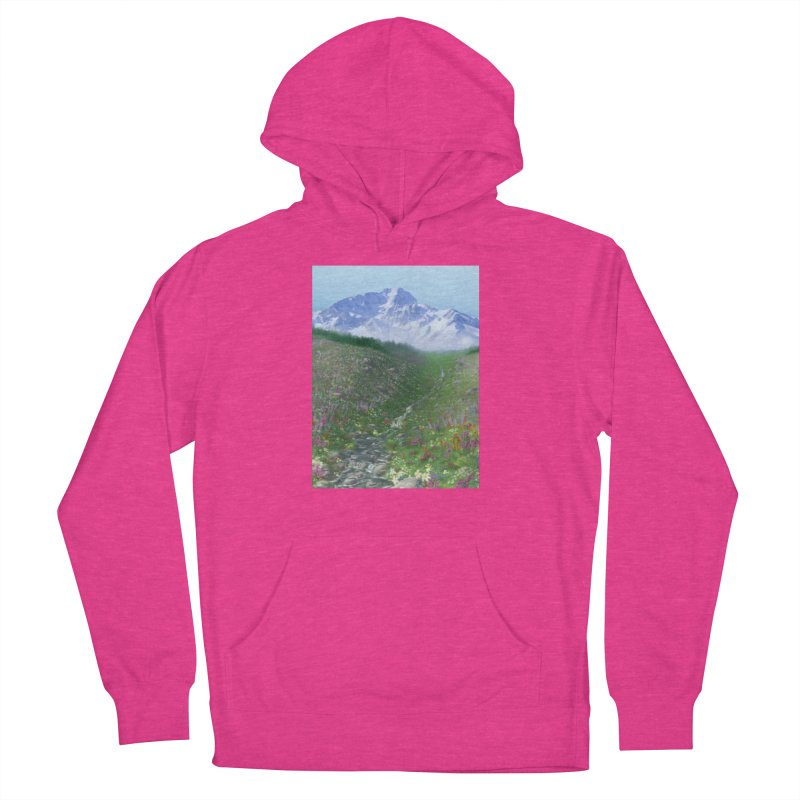 Alpine Meadow Men's French Terry Pullover Hoody by farorenightclaw's Shop