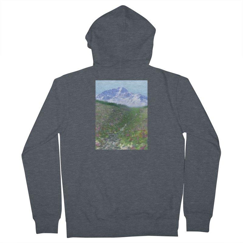 Alpine Meadow Men's French Terry Zip-Up Hoody by farorenightclaw's Shop