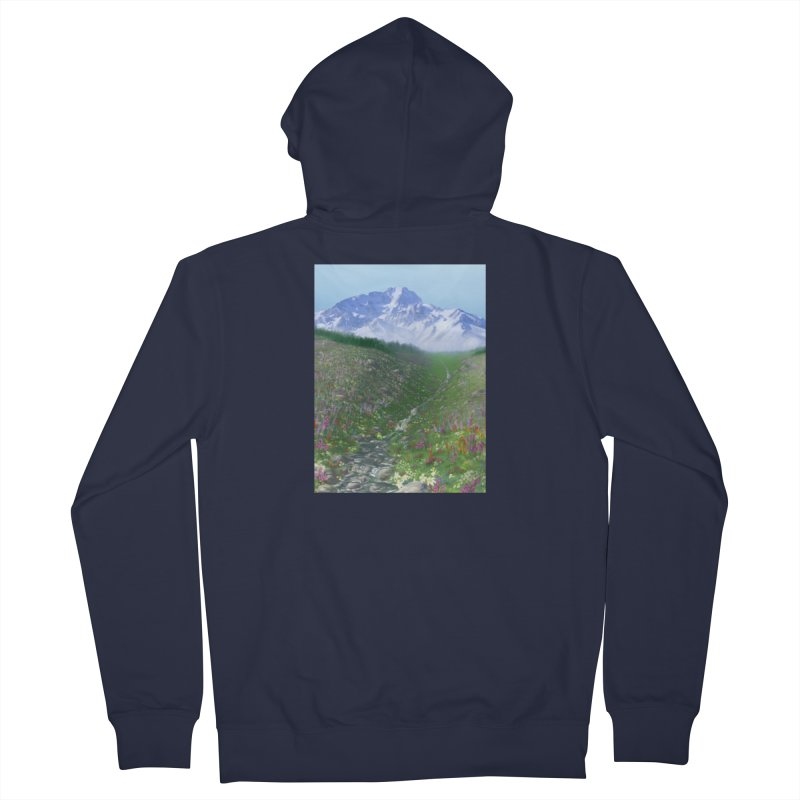 Alpine Meadow Men's French Terry Zip-Up Hoody by farorenightclaw's Shop
