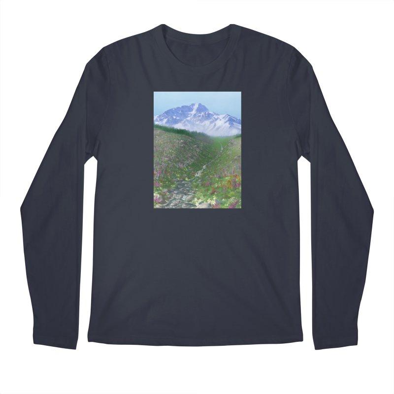 Alpine Meadow Men's Longsleeve T-Shirt by farorenightclaw's Shop