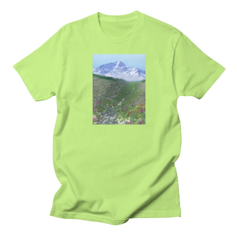 Alpine Meadow Men's Regular T-Shirt by farorenightclaw's Shop