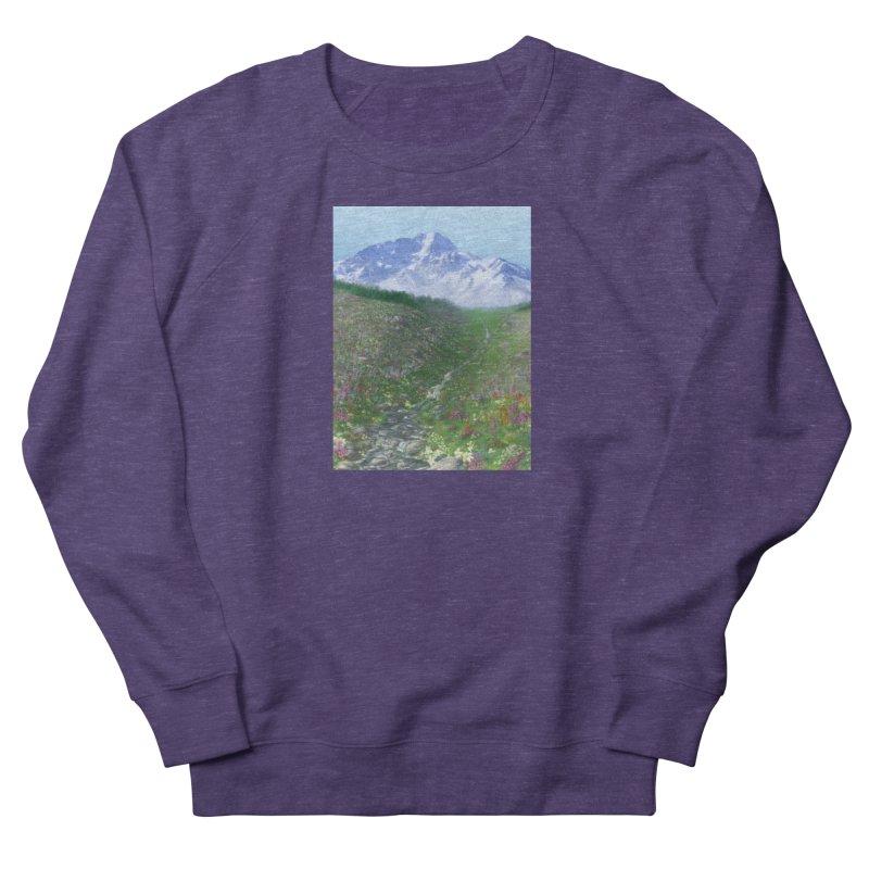 Alpine Meadow Men's French Terry Sweatshirt by farorenightclaw's Shop
