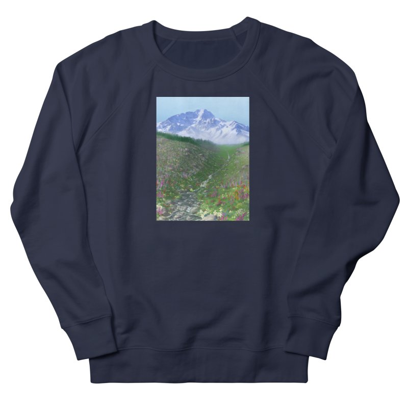 Alpine Meadow Men's French Terry Sweatshirt by farorenightclaw's Shop