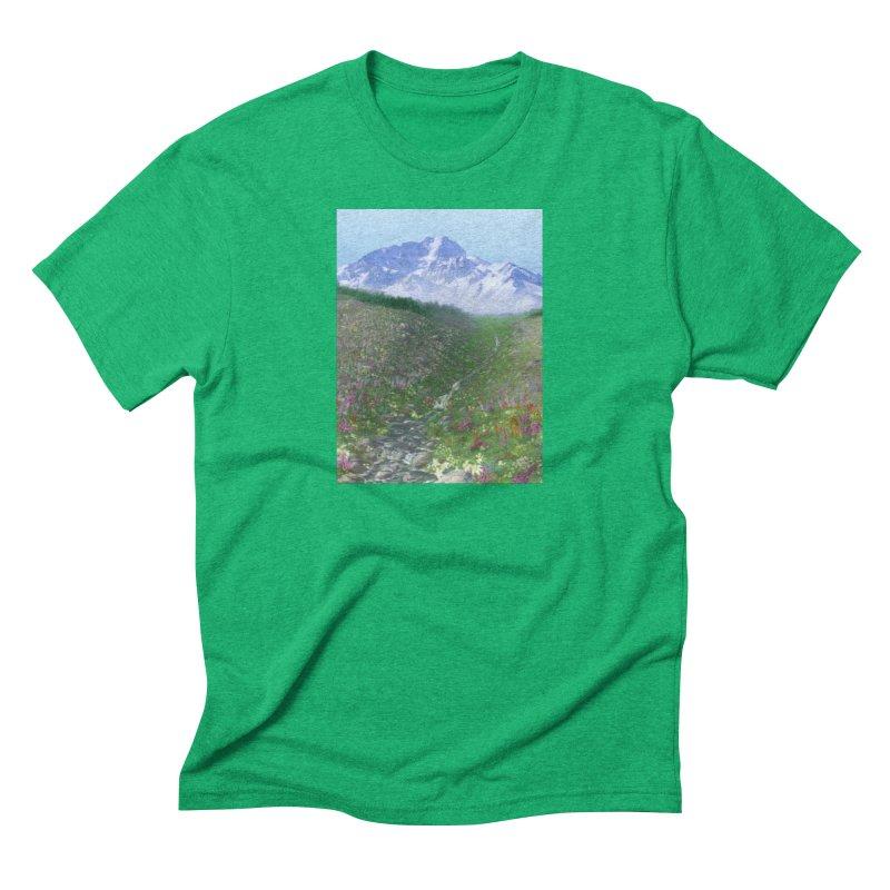 Alpine Meadow Men's Triblend T-Shirt by farorenightclaw's Shop